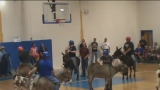 Donkey basketball stirs controversy at small town high school